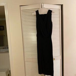 DVF black silk dress size 2